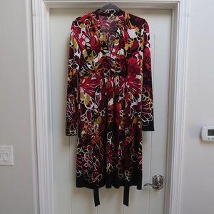 Tahari long sleeve dress